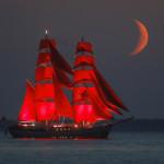 καράβι με κόκκινα πανιά