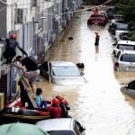 Πλημμύρες στη Νότια Κορέα