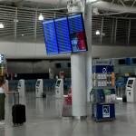 αεροδρόμιο άδειο από τουρίστες