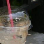 πλαστικό καλαμάκι καφές