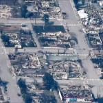 Πόλη Λίτον από ψηλά μετά τις φωτιές