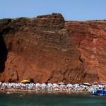κόκκινες παραλίες Ελλάδας