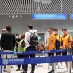 Τα μέλη της Γαλατασαράι στο αεροδρόμιο