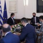 Κυριάκος Μητσοτάκης με αντιπρόεδρο Κομισιόν Σέφκοβιτς