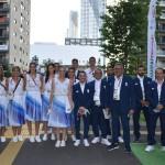 ελληνική ομάδα πριν την παρέλαση