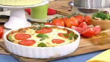 μεσογειακή τάρτα με ντομάτες