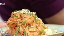 Ταλιατέλες με σάλτσα πιπεριάς