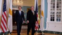 Μάικ Πομπέο και Νίκος Χριστοδουλίδης στον Λευκό Οίκο