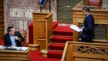 Αλέξης Τσίπρας και Κυριάκος Μητσοτάκης στη Βουλή