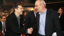 Τσίπρας και Αλαβάνος στο συνέδριο του Συνασπισμού το 2008