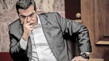 Ο Αλέξης Τσίπρας προβληματισμένος στη Βουλή