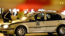περιπολικό σε αποκλεισμένο δρόμο στην Αθήνα
