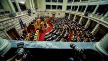 Η Ολομέλεια της Βουλής, όπως φαίνεται από τα θεωρεία