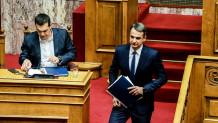 Τσίπρας και Μητσοτάκης στη συζήτηση για την ψήφο εμπιστοσύνης
