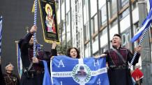 Η αδελφή του Κωνσταντίνου Κατσίφα Στο Συλλαλητήριο