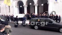 Το φέρετρο στην κηδεία της 14χρονης Ιωάννας
