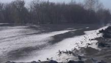 «Μαύρο» χιόνι στη Σιβηρία