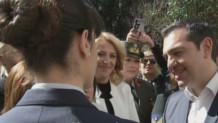 Αλέξης Τσίπρας με γυναίκες πιλότους