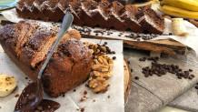 νηστίσιμο cake μπανάνας με σοκολάτα