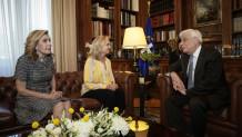 Συνάντηση Παυλόπουλου με Μ. Βαρδινογιάννη και Κ. Κέννεντυ