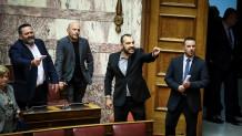 Βουλευτές Χρυσής Αυγής καβγάς με ΚΚΕ
