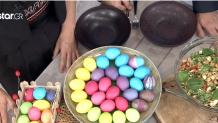σαλάτα με ρεβύθια και αυγά