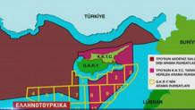τουρκικός χάρτης για την κυπριακή ΑΟΖ