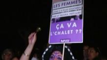 Ελβετία γυναίκες στα μωβ κινητοποίηση