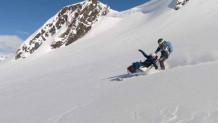 ανάπηρη μητέρα έκανε σκι