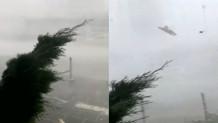 Ανεμοθύελλα και καταιγίδα στη γερμανική πόλη Λάγκεν