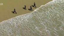 καταδίωξη ληστή παραλία Καλιφόρνια