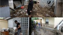 Πλημμυρισμένα σπίτια στο Ρέμα Ευκαρπίας