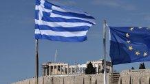 Ακρόπολη και ελληνική σημαία