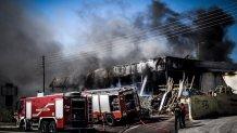 Το κατάστημα ειδών κήπου στο Κορωπί που κάηκε