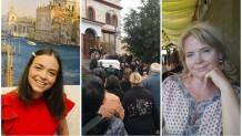 Οι δύο γυναίκες και στιγμιότυπο από την κηδεία