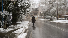 Χιόνισε στον Χορτιάτη