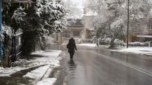 Χιονισμένο τοπίο στον Χορτιάτη Χαλκιδικής