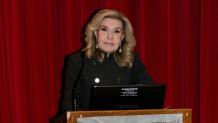 Η Μαριάννα Β. Βαρδινογιάννη κατά την διάρκεια της ομιλίας της