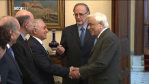 Ο Προκόπης Παυλόπουλος με τον Πρόεδρο της ένωσης πεσόντων Αλβανικού Μετώπου