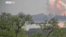 Έκρηξη σε αποθήκη πυροτεχνημάτων