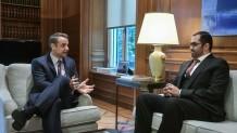 Ο Μητσοτάκης με τον υπουργό Επικρατείας των ΗΑΕ