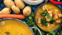 βελουτέ σούπα με θαλασσινά