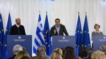 Ο Μητσοτάκης και οι τρεις επικεφαλής των ευρωπαϊκών θεσμών
