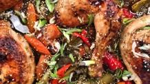 γλυκόξινο κοτόπουλο με λαχανικά