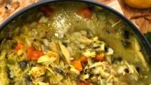 κοτόσουπα με ρύζι και λαχανικά