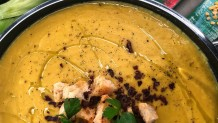 σούπα με λαχανικά και φάβα