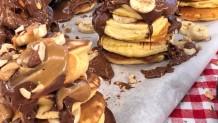σουφλέ pancakes με σοκολάτα