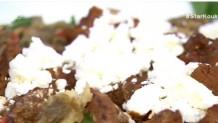 μοσχαράκι με μελιτζανοσαλάτα