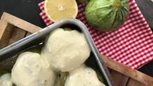 γεμιστά κολοκυθάκια με κρέμα λεμονιού