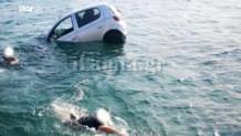 αυτοκίνητο έπεσε στη θάλασσα